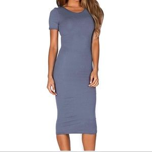 Dresses & Skirts - Super Soft Bodycon Midi Dress, Slate Gray, Medium